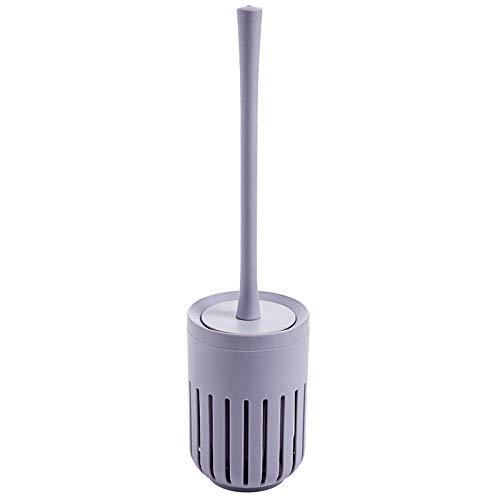 Brosse de toilette, brosses de toilette et supports Kit de brosse de nettoyage de toilette en silicone Salle de bain - Ensemble de brosse de toilette murale Brosse de nettoyage de salle de bain Lavag