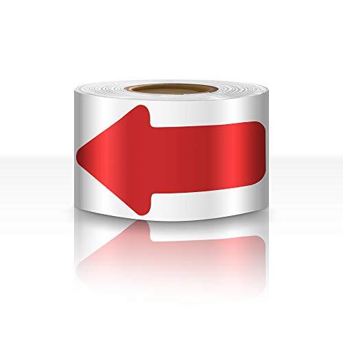 "Arrow Floor Sign Tape 2""×4"" Arrow Floor Marking Sticker 200 PCS Arrow Decal Tape Red"