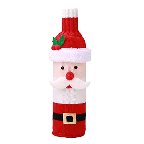 Año Nuevo 2022 Bolsas botella de vino titular cubierta Feliz Navidad decoraciones para el hogar regalo de Navidad decoración de mesa - Santa Claus