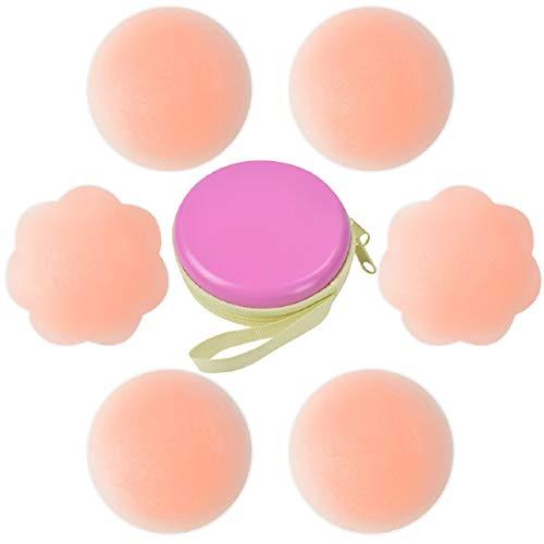 Tuopuda Pezoneras para Mujer Cubierta de Pezón Pezoneras Adhesivas Silicona Sujetador Pezon (3 pares)
