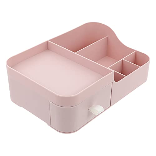 Minkissy Organizador de Escritorio Maquillaje Suministros de Oficina Accesorios Cajón Caddy Box Rack Esenciales para La Organización de Escritorio de Oficina en Casa