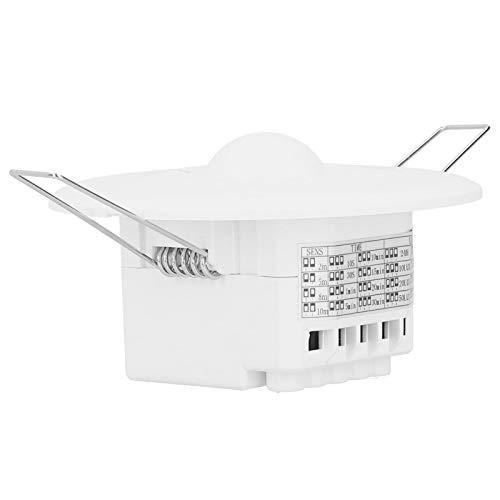 KUIDAMOS Interruptor de inducción de Movimiento, Sensor de microondas, Blanco, 15x10x6 cm, tamaño Compacto, instalación integrada, Sensor de Movimiento para detectar Objetos en Movimiento