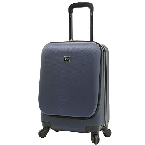 Travelers Club Alise Hardside Laptop Carry-On Spinner Luggage, Black, 20-Inch