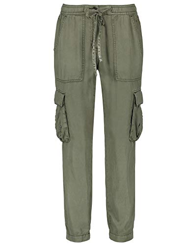 Taifun Damen Cargo-Hose Aus Lyocell Lounge Pants Ts Lässige Passform Soft Khaki 34