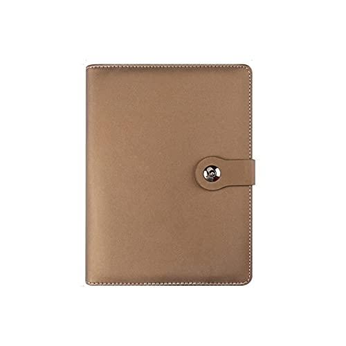 HYAN Cuaderno B5 Binder 6 Ring Diario Diario Cuaderno de Cuero Llena de Hoja Suelta Bloc de Notas con el Titular de la Pluma para el hogar y la Oficina de la Escuela