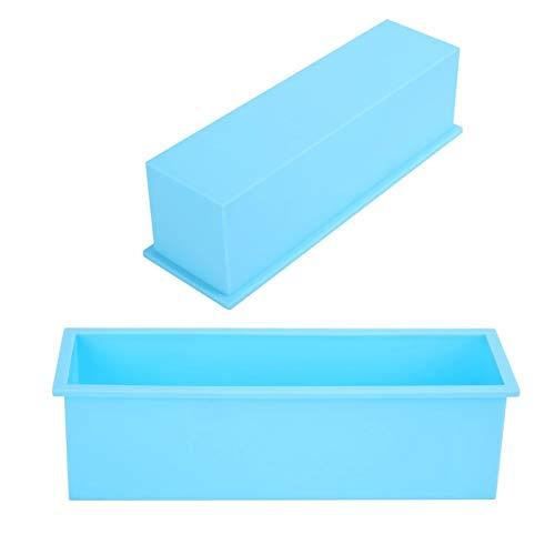 Molde para tostar Molde para jabón Fácil de desmoldar 1200ML para chocolate(Sky blue)