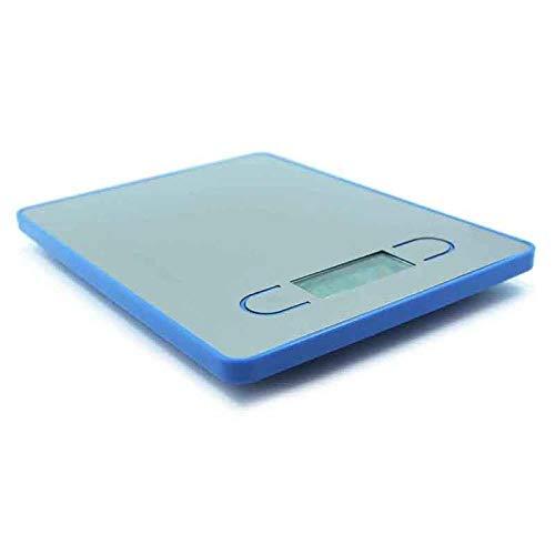 Tragbare elektronische Küchenwaage Schlanke Haushalts-Digitalstraßen Lebensmittelwaage LCD-Anzeige Leicht zu reinigen-Blau