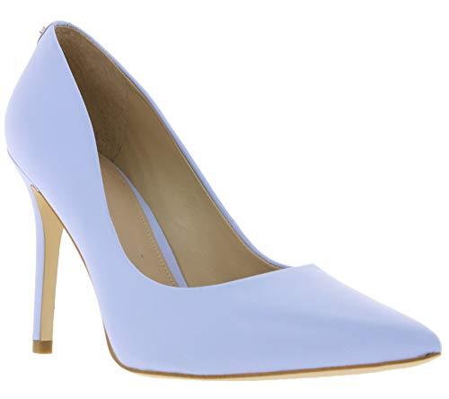 Guess Schuhe Pumps modische Damen Echtleder-Stilettos Absatzschuhe Abenschuhe Hellblau, Größe:39