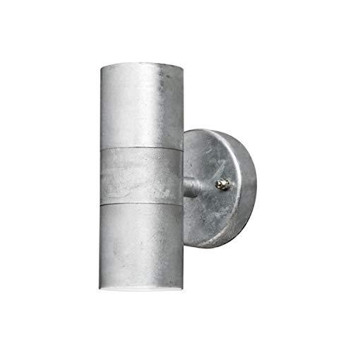 Gnosjö Konstsmide Modena Wandleuchte Außenleuchte, Stahl, GU10, galvanisiert grau, 6 x 9 x 17 cm