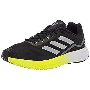 adidas Men's SL20 Running Shoe, Black/Black/Solar Yellow, 8.5