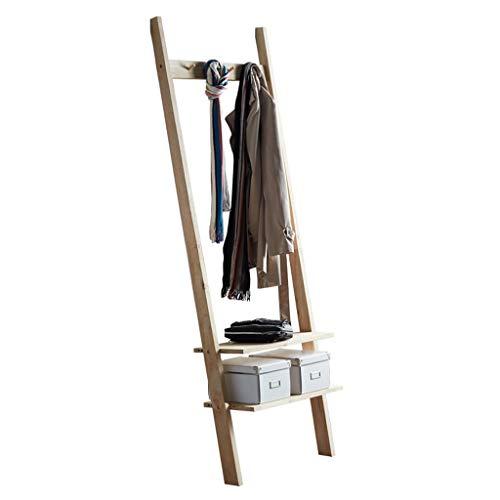 Moderner Minimalist Massivholz-Fußboden zu Decke Hanger Schlafzimmer Wohnzimmer Hauptwand-Lagerregal