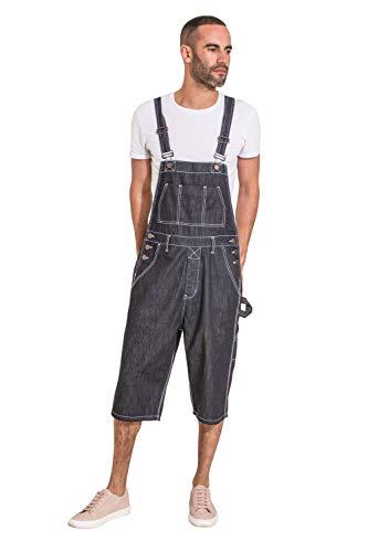 Preisvergleich Produktbild Wash Clothing Company CHET Mens Dungaree Shorts - Indigo
