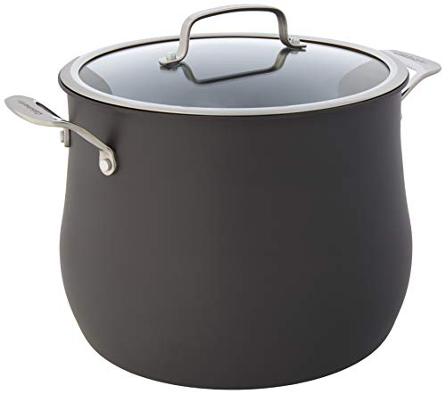 Cuisinart Contour Hard Anodized 12-Quart Stockpot with Cover,Black