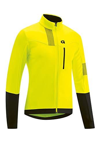 Gonso Valaff Softshell Jacke Herren Safety Yellow/Black Größe M 2020 wasserdichte Jacke