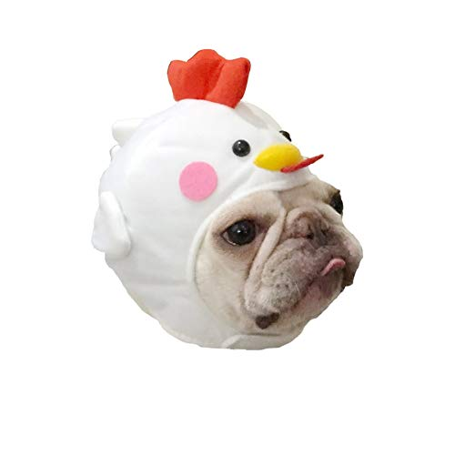 Stock Show Pet Costume Dog Cat Cute Novelty Chick Hat Headwear with Sticker Dog Cat Funny Chicken Hen Costume Hat Pet Soft Headgear for Halloween Xmas Festival Birthday Theme Party Photo Prop