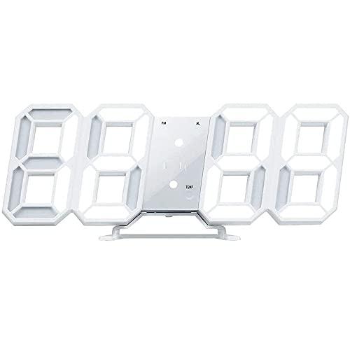 LEDデジタル 時計 置き時計 3Dデザイン 電子時計 壁掛け時計 置時計 目覚まし機能 温度表示機能 明るさ調整 スタンドクロックデジタル時計 USB電源 アラーム スヌーズ 多機能 日本語説明書 Conkoo