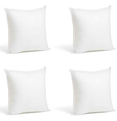 Cojines Rellenos Sofa hipoalergénicas para Funda Decoracion y para Almohadas de Cama Pack de 4 Unidades (Relleno, 45x45cm)