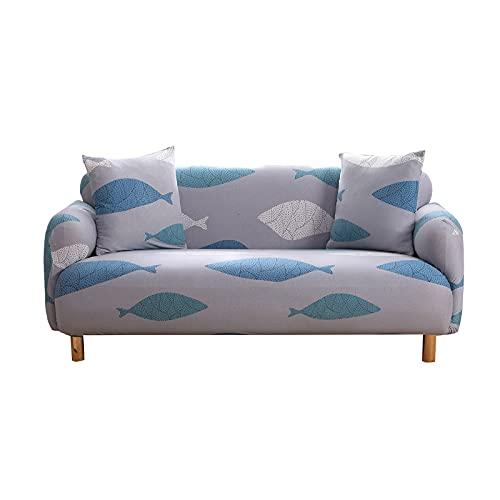 WXQY Funda de sofá con Estampado de árbol de Estilo japonés, Funda elástica, Funda de sofá Antideslizante de Cubierta Completa Funda de sofá de Esquina en Forma de L A6 3 plazas