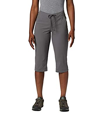 Columbia Women's Anytime Outdoor Capri, Water & Stain Repellent, City Grey, 14x18