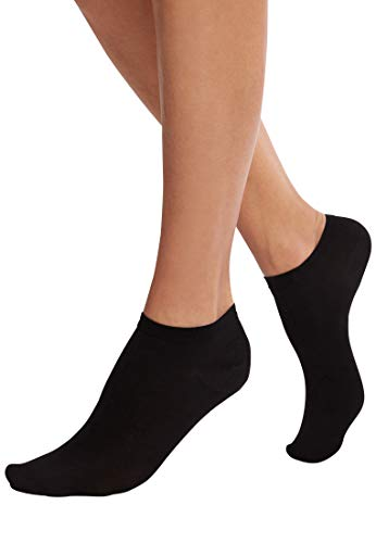 Wolford Damen Strümpfe (LW) Sneaker Cotton Socken, 80 DEN,black,Medium (M)