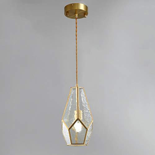 JSKK Creativo Vaso Pequeña Lámpara De Araña,Moderno Todo-Cobre Lámpara Plafón,Personalidad Plexiglás Dormitorio Bar Cabecera Lámpara Colgante-Transparente 6x11inch