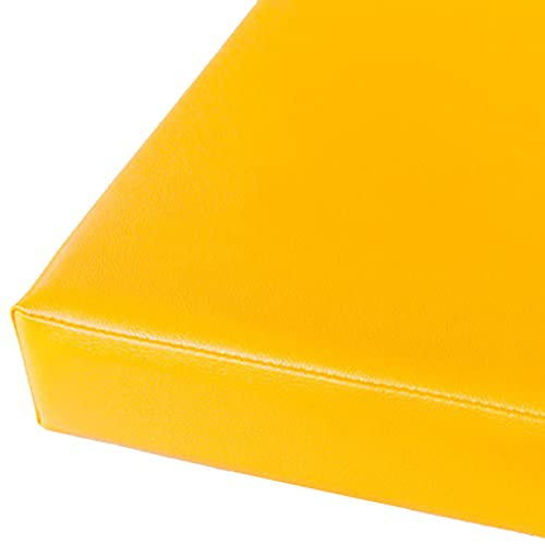 Cojín de Banco 5 Cm Cojín de Banco de Asiento de Espuma Gruesa, Cojín de Banco Impermeable de Cuero de PU Antideslizante Extraíble para Limpieza, para Interior/Exterior/Patio/Sofá/Banco de Jardí