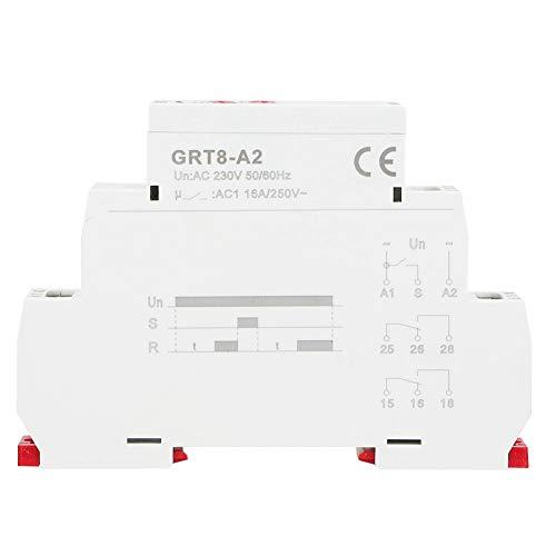 Relè temporizzatore automatico a controllo elettronico su guida DIN a singola funzione GRT8-A2 Ip20(AC230V)