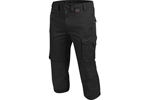 WÜRTH MODYF Piratenhose Cetus schwarz: Die widerstandsfähige 3/4-Hosen ist in der Größe 42 erhältlich. Die metallfreie und Bequeme Arbeitshose ist Industriewäsche geeignet.