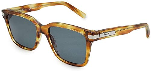 Ferragamo SF917S Acetate Sonnenbrille gestreift Caramel Unisex Erwachsene Mehrfarbig, Standard