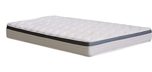 Matras Visco Premium met zilverdraad in wolkenlook, dikte 24 cm, afmetingen: 120 x 190 cm, wit