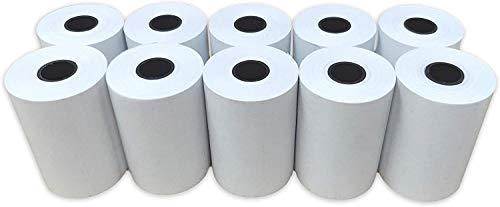 Sumedtec - Pack de 10 rollos de Papel termico 57x40, 57 mm x 40 mm para todos los Datafonos y TPV, sumadoras y basculas Paquete De 10, 57 x 40 x 12 mm, Color Blanco
