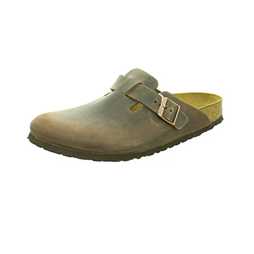 Birkenstock Boston - Oiled Leather (Unisex) Habana Oiled Leather 38 (US Men's 5-5.5, US Women's...