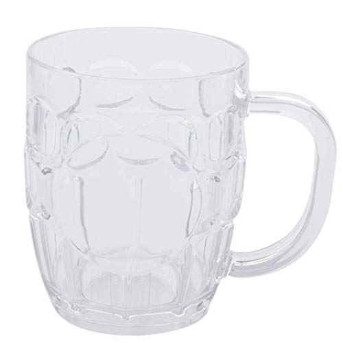 EP 8 pack Plastic Beer Mugs,20oz Clear Plastic Cup,Dishwasher-Safe