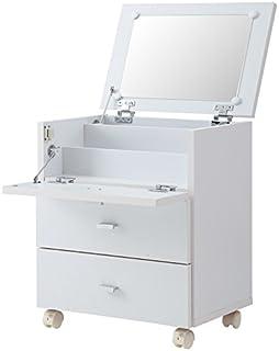 コスメボックス ドレッサー 収納 ミラー メイクボックス フィーゴ 【FIGO】 (ホワイト(組み立て品))