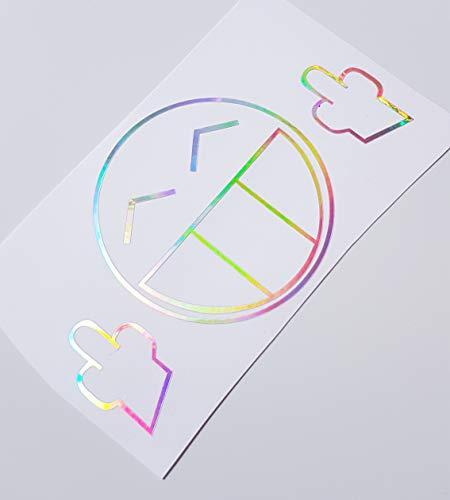Schönheits Shop Fuck Smiley Effekt Farbwechsel Hologramm Flip Flop Decal Auto Aufkleber Shocker Tuning Autoaufkleber