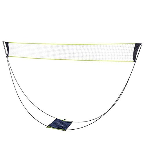AMWNN Portable Badminton Net with Stand Carrying Bag,Badminton Net Set for Volleyball,Tennis, Indoor Outdoor Court,Beach Sports.