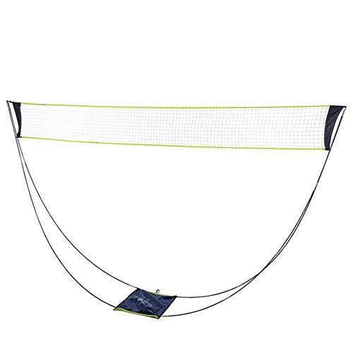 Draagbaar Badmintonnet en Palen Staan Opvouwbaar Badminton Tennisvolleybalnet voor Tuin,Achtertuin,Binnen en Buiten