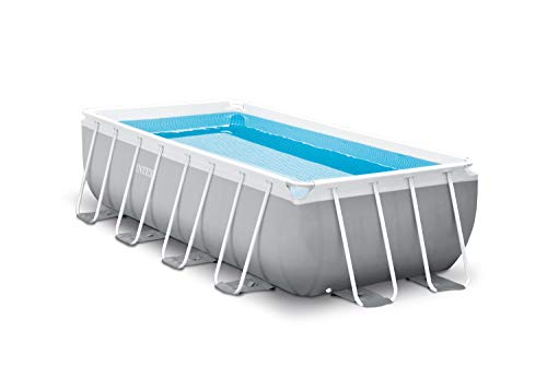 Intex Prism Quadra 400 x 200 x 100 cm Frame Pool Set, Hellgrau