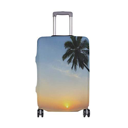Cubiertas de Equipaje Isla Tropical de la Palma de la Maleta del Equipaje del Viaje del Protector elástico Funda Impermeable con la impresión en Delicado