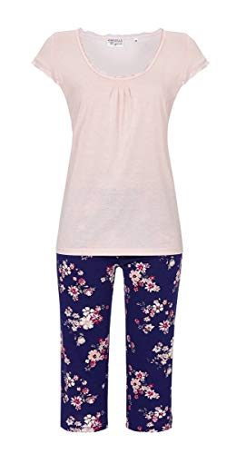 Ringella Lingerie Damen *Pyjama mit Caprihose Crystal Rose 42 0261205, Crystal Rose, 42