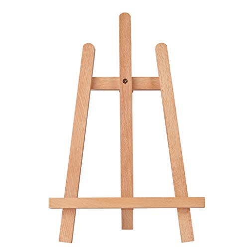Faltende Staffelei , Mini Ulme Tisch Staffelei Dreieck Ständer Tisch Staffelei Foto Poster Stand Handwerk Ausstellungsstand Kleine Bücherregal