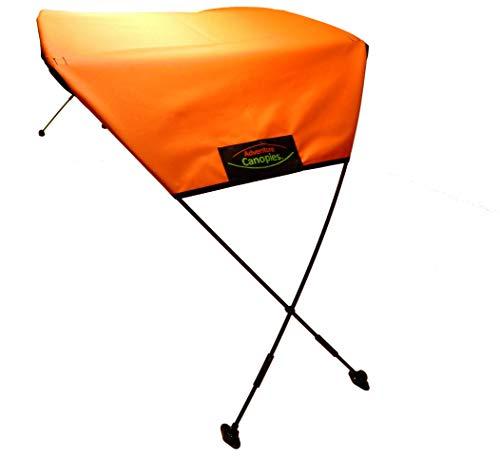 Adventure Canopies Kayak Sun Shade - 10 Foot & Larger Kayaks (Awesome Orange, Tarpon: Sit-On w/seat Above top Edge of Kayak)