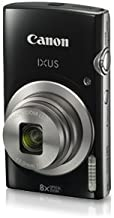 Canon IXUS 185 20MP Digital Camera with 8x Optical Zoom (Black) + Memory Card + Camera Case