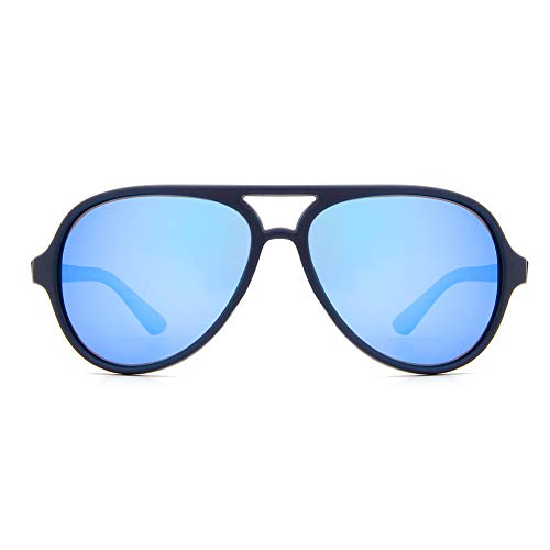 Cyxus Polarizadas Gafas de Sol para Niños 100% de Protección Ultravioleta Anti Reflejante (Marco Azul 1602E05)