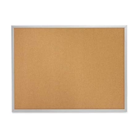 Cork Board 36x48 Memo Board 90x120cm Cork Notice Board Framed Bulletin Board Silver Aluminum Frame V VAB-PRO C127504