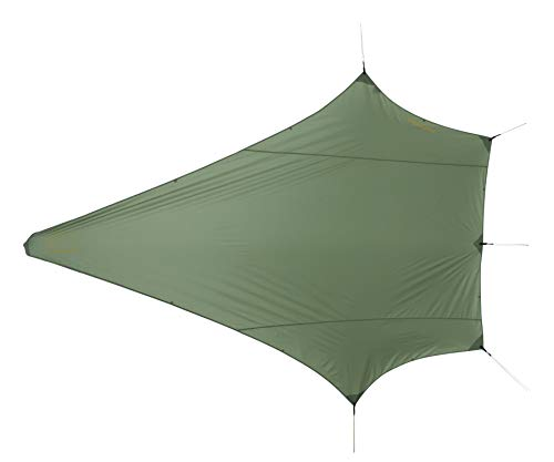 Nordisk - Voss PU multifunktionales Tarp, windresistent, wasserdicht, Nylon Rip Stop mit Polyurethan Beschichtung, UV 45+ Filter, Diamond, Grün/Dusty Green