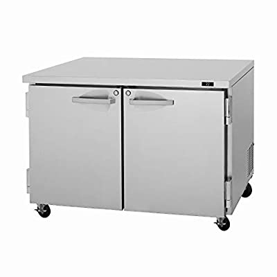 Turbo Air PUF-48-N Pro Series Undercounter Two Section Freezer, 12.2 cu. ft.