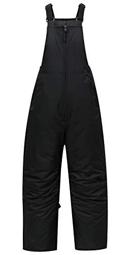 PHIBEE Men's Insulated Warm Snow Pants Waterproof Windproof Ski Bib Overalls Black L