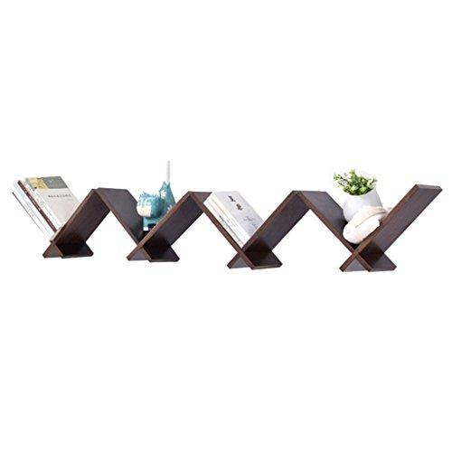 Dongyd Supports muraux en Bois en Forme de V en Bois de Couleur, Support Mural décoratif Multifonctionnel de Salon (Un Ensemble de 4)