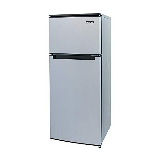 Magic Chef HMDR450SE Double Door Mini Refrigerator Stainless Look 4.5 cu. ft.
